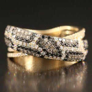 $7500 Limited EFFY Confetti Leopard Diamond Ring